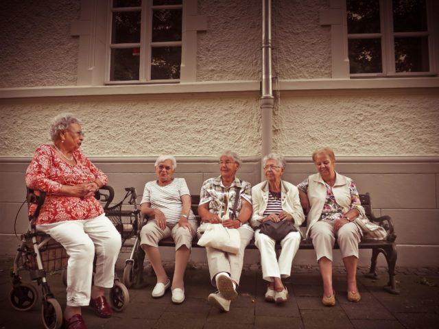 socializing to seniors